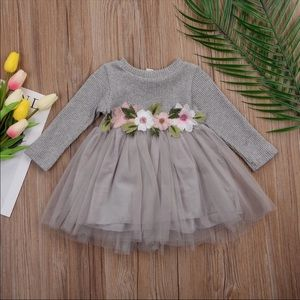 Other - Knitted Floral Tutu Dress